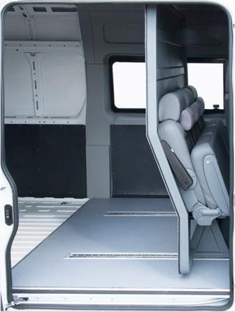 Трансформируемый салон грузопассажирского микроавтобуса